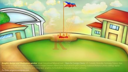 Photoshop & Wacom Animation background with song