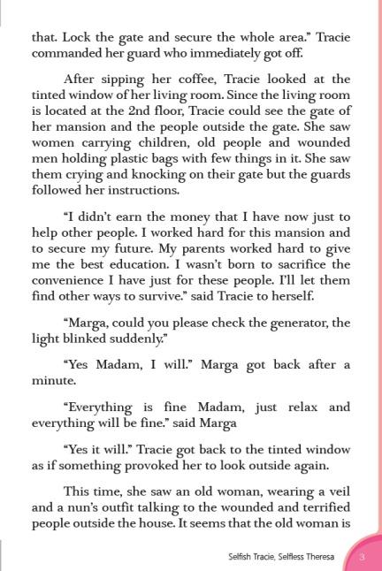 Selfish Tracie, Selfless Theresa3